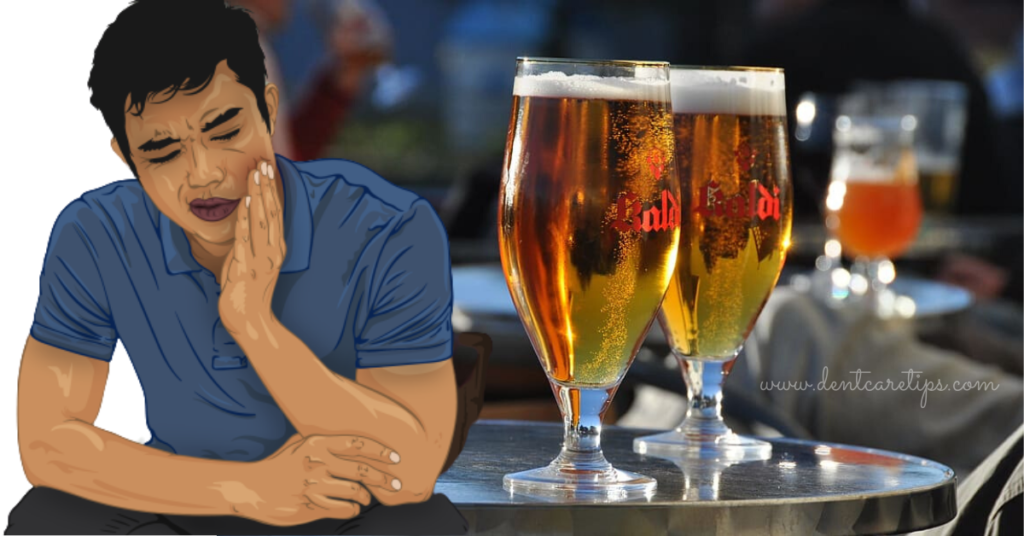 Alcohol after tooth extraction